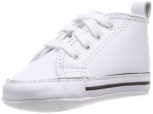 Converse CT Baby First Star Leather High Top Sneaker White 3 M US Infant ()
