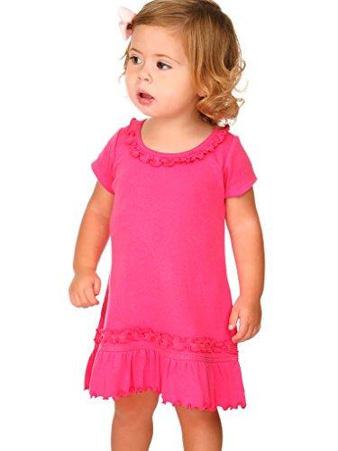 Kavio! Infants Sunflower Short Sleeve Dress