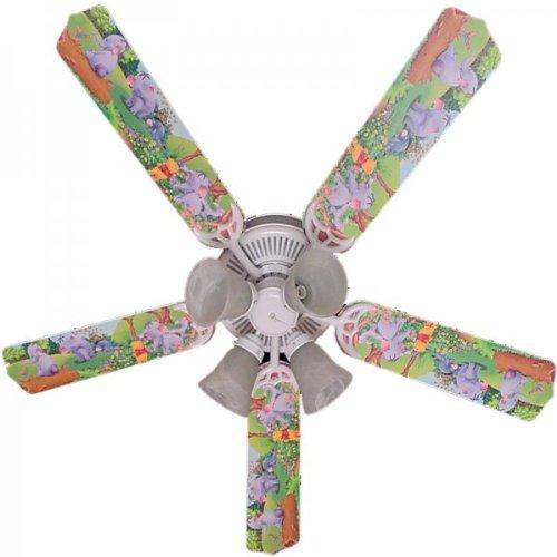 Ceiling Fan Designers Ceiling Fan, Winnie Pooh Heffalump Lumpy Eeyore, 52'' by Ceiling Fan Designers