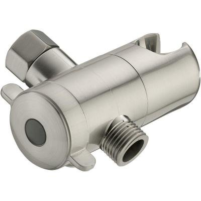 3 Way Shower Diverter with Mount in Brushed Nickel