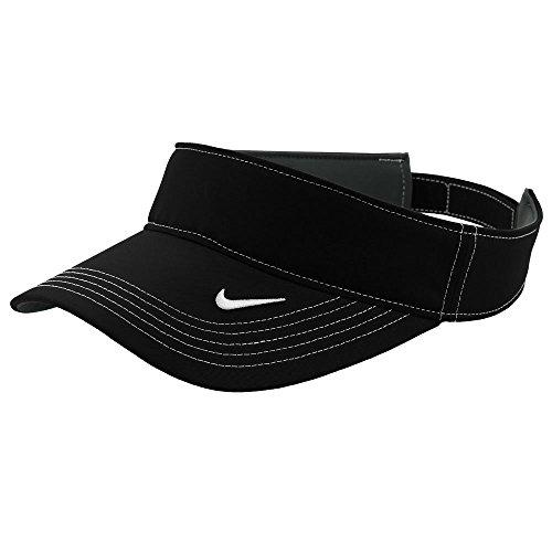 Summer Nike Visor - Nike Original Dri-FIT Moisture Wicking Swoosh Adjustable Visor Cap - Black