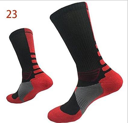 Alamor 3-Pack Calcetines De Baloncesto para Hombres Calcetines con Suela De Toalla Calcetines Elite