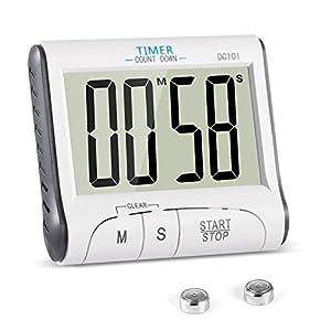 Timer Cucina, YXwin Magnetico Digitale Elettronico 24 Ore Timer da Cucina con Display LCD e Allarme Forte Conto Alla… 16