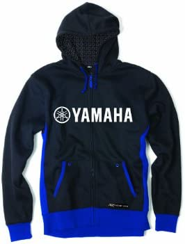 Black, X-Large Factory Effex 16-88256 YAMAHA Tuning Fork Zip-Up Sweatshirt