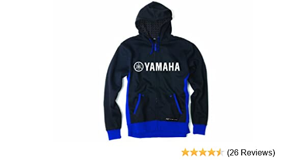 New Yamaha Blue Hoodie with White Yamaha Logo.