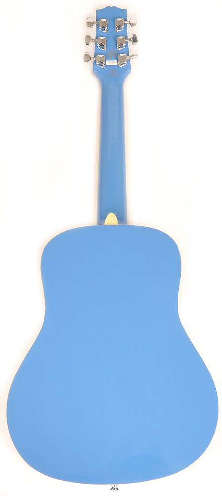 SX RSM 1 34 BBU 3/4 Size Bubblegum Blue Acoustic Guitar Package, Black with Carry Bag, Strap, and Guitar Picks Included by SX (Image #3)
