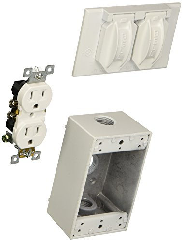 Hubbell-Bell 5839-6 Cover and Duplex Receptacle Weatherproof Box, ()
