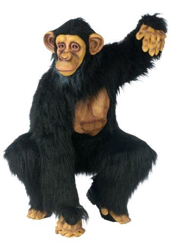 FunWorld Complete Chimpanzee Suit, Black, One Size Costume ()