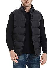 MADHERO Mens Quilted Vest Lightweight Sleeveless Padded Jacket