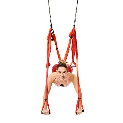 YOGABODY Yoga Trapeze (Official), Orange - Yoga Inversion Swing