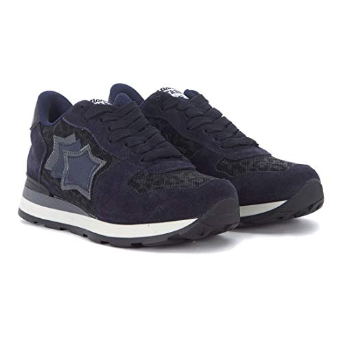 In Sneakers Italy Atlantic Pelle Donna Nero Nylon blu Stars Made Any Vega 81n E 7HHqZp