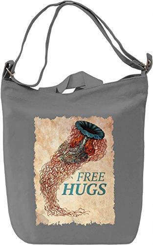 Free hugs jellyfish Borsa Giornaliera Canvas Canvas Day Bag| 100% Premium Cotton Canvas| DTG Printing|