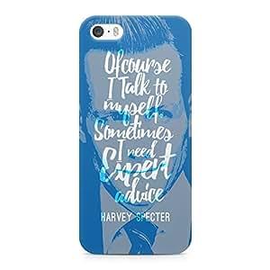 Loud Universe Suits Case Harvey Expert Opinion Printed Edges Wrap Around iPhone 5s Case - Blue