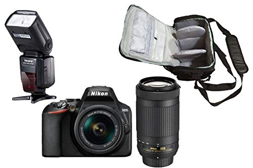 D3500 DSLR Camera + AF-P DX 18-55mm f/3.5-5.6G VR + AF-P DX 70-300mm f/4.5-6.3G ED VR + KamKorda Pro Camera Bag…