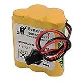 BatteryGuy BGNMHAA1800-5FWP-BWRP 6V 1800mah