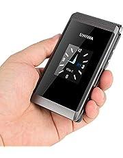 UNIWA X28 Flip mobiltelefon stor knapp telefon 1,7 tum 2,8 tum dubbel skärm 2G GSM dubbel SIM FM-radio tangentbord mobiltelefon senior telefon för äldre