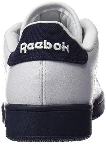 Reebok NPC II Zapatillas de tenis, Niños Blanco / Azul (White/Navy/Pop)