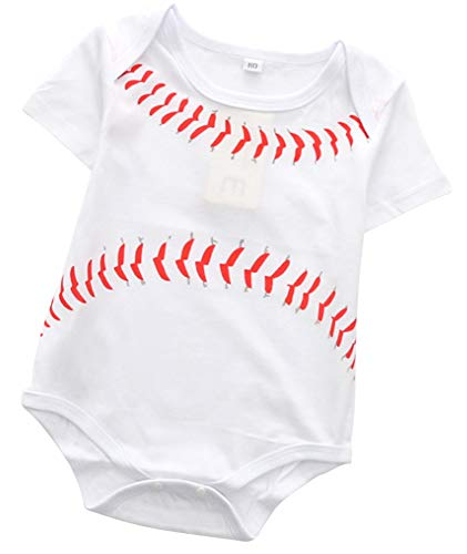 FANCYBABY Baby Toddler Referee Baseball Romper Shirt Outfit (9-12 Months, Baseball)