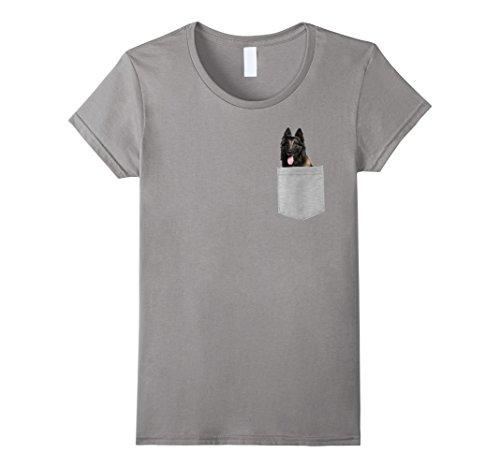 Womens Dog in Your Pocket Belgian Tervuren t shirt shirt Small Slate