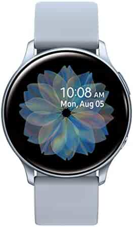 Samsung Galaxy Watch Active2 w/ enhanced sleep tracking analysis, auto workout tracking, and pace coaching (44mm), Cloud Silver - US Version with Warranty