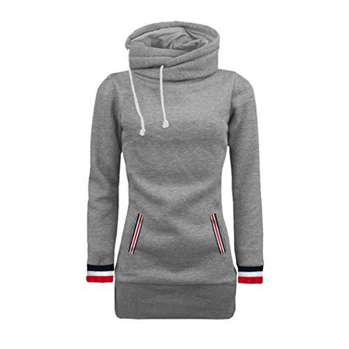 Big Sale! Women Hoodie Sweatshirt Daoroka Ladies Long Sleeve Turtleneck Solid Drawstring Pockets Pullover Hooded Blouse Fashion Autumn Winter Causal Loose Jumper Tunic Tops for $<!--$9.99-->