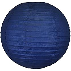 "Just Artifacts 8"" Navy Blue Chinese/Japanese Paper Lantern/Lamp 8"" Diameter - Just Artifacts Brand"