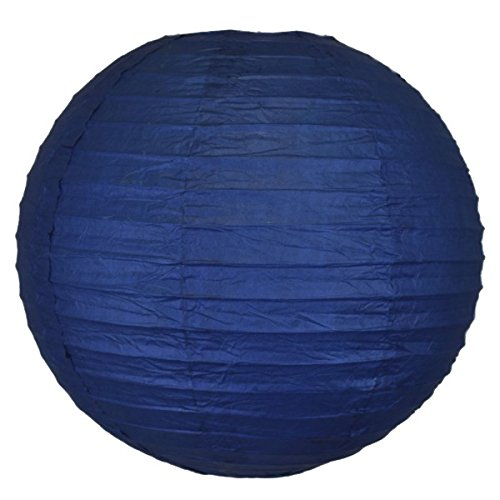 Just-Artifacts-Navy-Blue-ChineseJapanese-Paper-LanternLamp-12-Diameter-Just-Artifacts-B