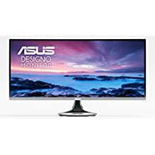 ASUS MX34VQ Designo Curve Ultra-wide Curved Monitor - 34 inch, UWQHD, 1800R Curvature, Frameless, Qi Wireless Charger, Audio by Harman Kardon, Flicker Free, Blue Light Filter