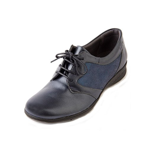 Zapatos de Sparkle Navy Piel de Bryony mujer Suave para cordones T7xz5Aqqn