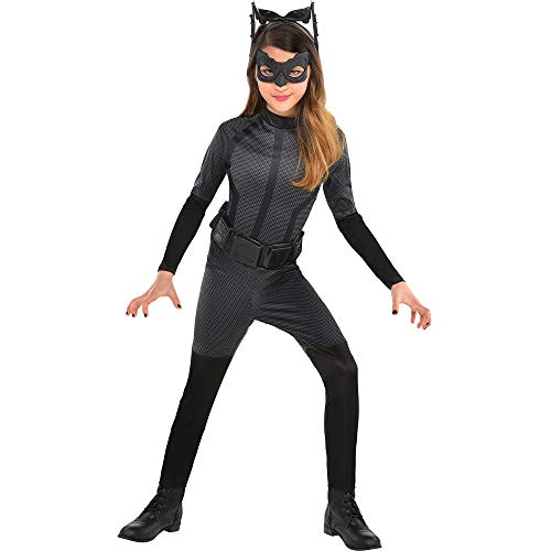 Costumes USA Batman: The Dark Knight Rises Catwoman Costume for Girls, Size Medium, Includes a Jumpsuit and More