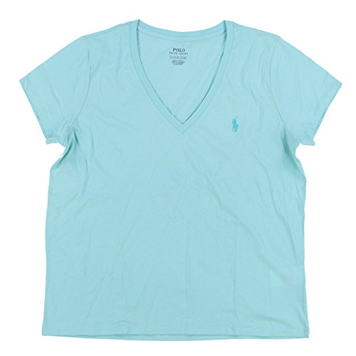 Polo Ralph Lauren Womens V-Neck Jersey T-Shirt (Small, Mint)