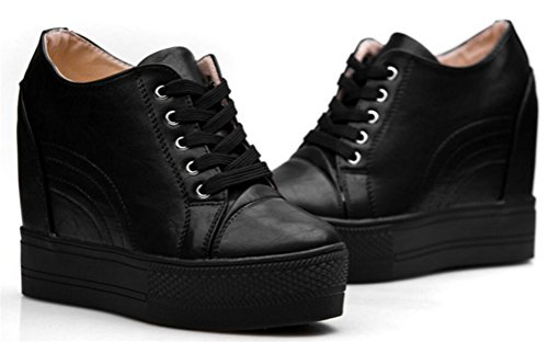 Shock Ace White Wedges Sneakers Fashion Heel Walking Low High Black Women top Platform For R44wdxXq