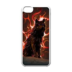 Custom Colorful Case for Iphone 5C, Wolf Cover Case - HL-R665616