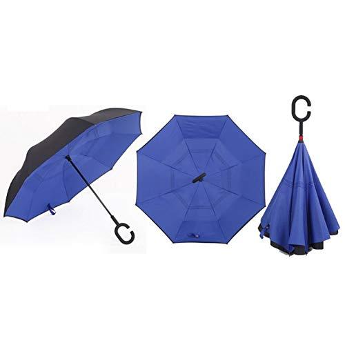 Umbrellas - Double Layer Inverted Umbrellas Solid Color Rainy Sunny Umbrella Windproof Straight Travel - Willow Green Fold Quality Super Auto Women Brand Trilogy Susino Compact Parasol Pocket