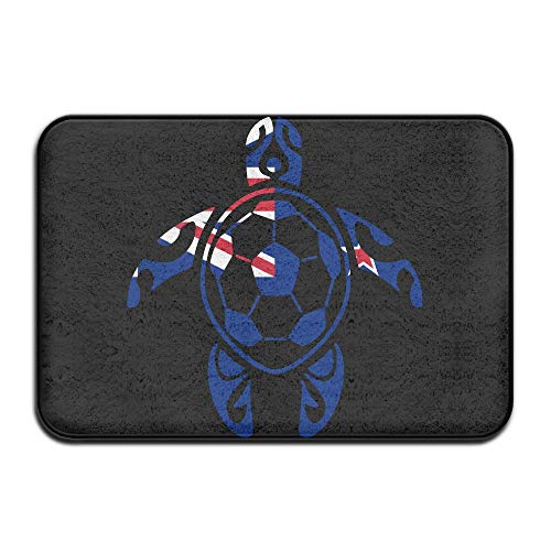 Youbah-01 Indoor/Outdoor Floor Mat with New Zealand Flag Soccer Sea Turtle Pattern for Kitchen Dining by Youbah-01