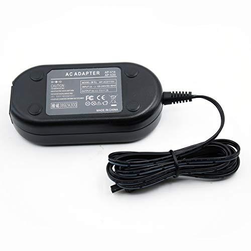 PowEver AC Camera Adapter Charger kit AP-V14 AP-V14U Compatible for JVC AP-V14 AP-V14U V14A V14E V15E V15U V16U V17 V17E V17U V18 V18U V18E V19E V20 V20E V21 GZ-HM970 JY-HM85 GZ-MG530 GY-HM150