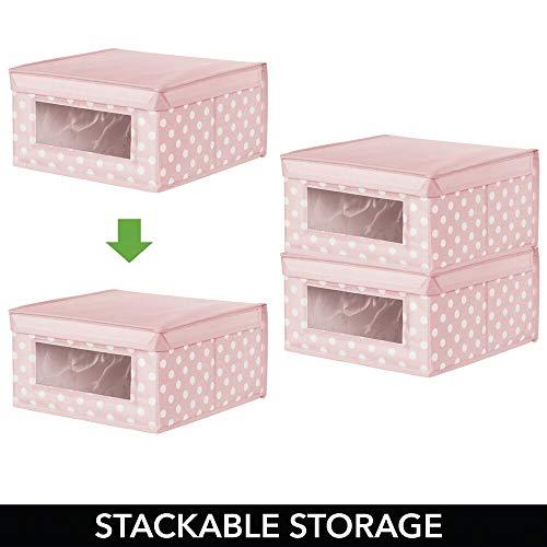 Polka Dot mDesign Child//Kids Fabric Closet Storage Box Large