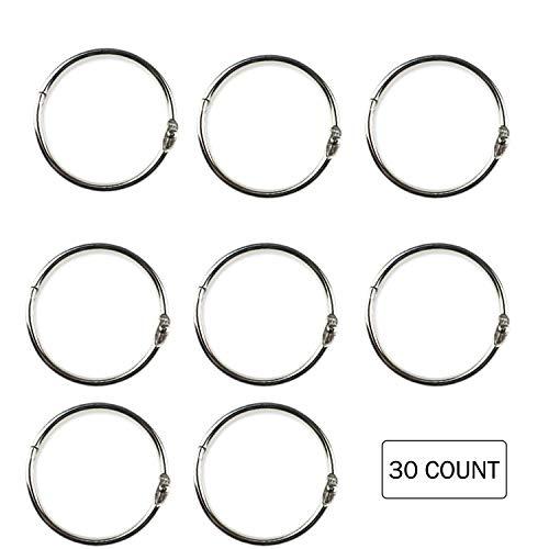 Kootiko Large Steel Book Rings Loose Leaf Binder Ring Nickel Plated,2 Inch, for School Home Office ()