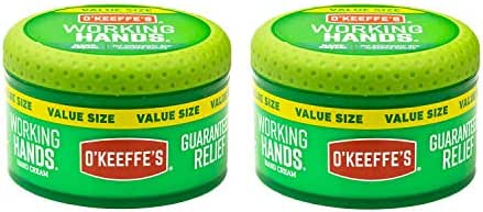 O'Keeffe's Working Hands Hand Cream Value Size, 6.8 ounce Jar, (Pack of 2)