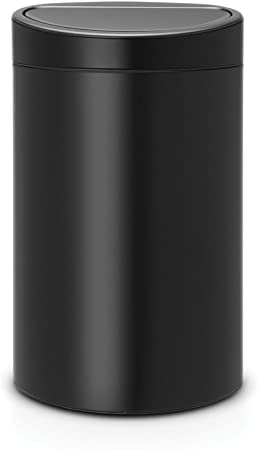 Brabantia Poubelle Touch Bin 40 Litres Noir Mat Capacite 40