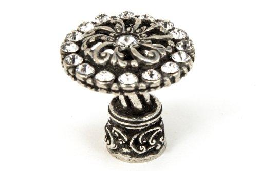 - Carpe Diem Hardware 873-9C 1-1/4-Inch  Cache Chalice Knob  with Swarovski Crystals