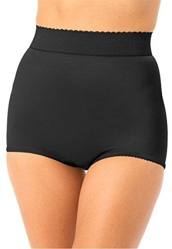 Rago High Waist Control Brief (Rago Women's Plus Size High Waist Tummy Control Brief Black,54)