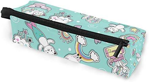 Estuche portátil para gafas, diseño de unicornio y sirena, caja suave para mujeres y niñas, con cremallera, bolsa de almacenamiento para cosméticos: Amazon.es: Oficina y papelería