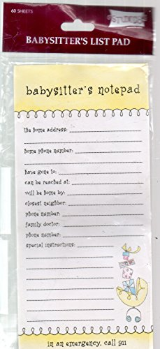 Babysitter's List Pad (Baby Supplies List)