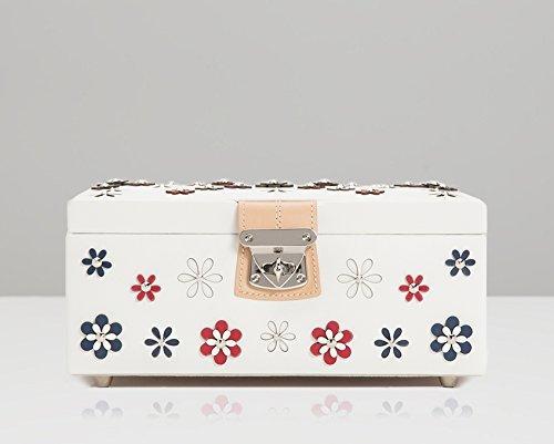WOLF Blossom Jewelry Box Jewellery, Medium, White by WOLF