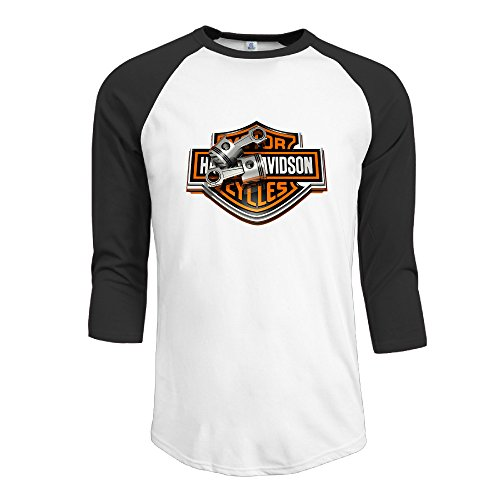- Ouidtk Men's Harley Davidson Pistons Half Sleeve T-shirts/3/4 Sleeve Basic Casual Round Neck Top