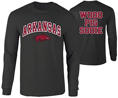 - Elite Fan Shop Arkansas Razorbacks Long Sleeve Tshirt Heather Gray - L - Charcoal