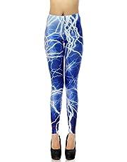 HDE Trendy Design Workout Leggings - Fun Fashion Graphic Printed Cute Patterns