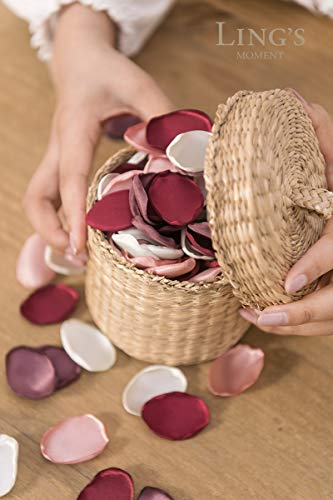 Ling's moment Silk Rose Petals 200PCS Flower Petals for Wedding Flower Girl Basket Table Centerpieces Sweetheart Table Decoration Aisle Confetti