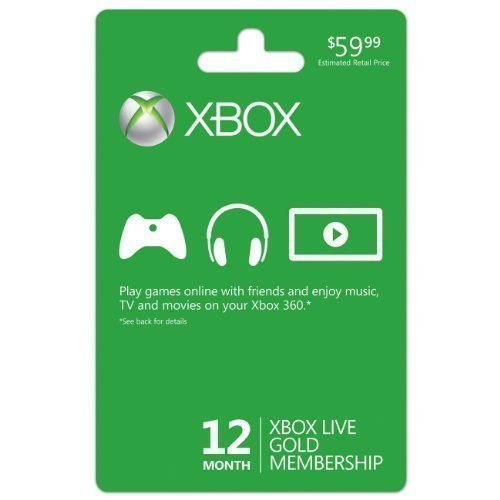 Microsoft Xbox LIVE 12 Month Gold Membership (Physical Card) by Microsoft